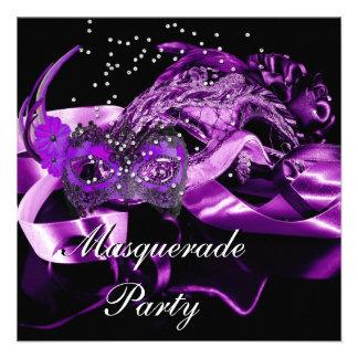 Fiesta púrpura de la bola de mascarada de las másc comunicados