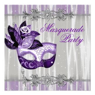 Fiesta púrpura de la mascarada de las chispas púrp anuncio