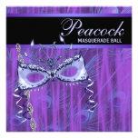 Fiesta púrpura de la mascarada de las plumas del p anuncios personalizados