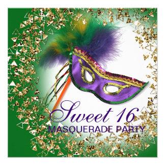 Fiesta púrpura de la mascarada del dulce 16 de la anuncios