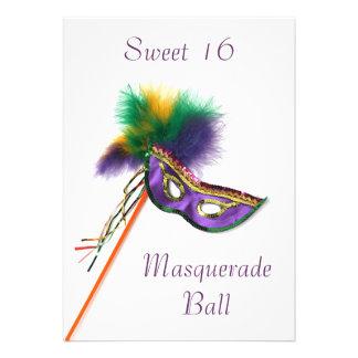 Fiesta púrpura de la mascarada del dulce 16 de la comunicado
