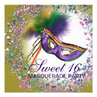 Fiesta púrpura de la mascarada del dulce 16 de la comunicados personales