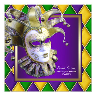 Fiesta púrpura de la mascarada del dulce dieciséis comunicados