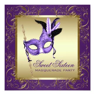 Fiesta púrpura de la mascarada del dulce dieciséis anuncios