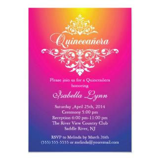 Fiesta púrpura rosado elegante de Ombre Invitación 12,7 X 17,8 Cm