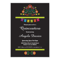 Fiesta Quinceañera Birthday Party Mexican Invite