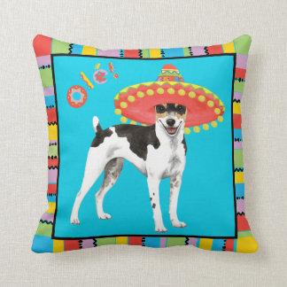 Fiesta Rat Terrier Throw Pillow