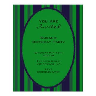 fiesta rayado azulverde flyer a todo color