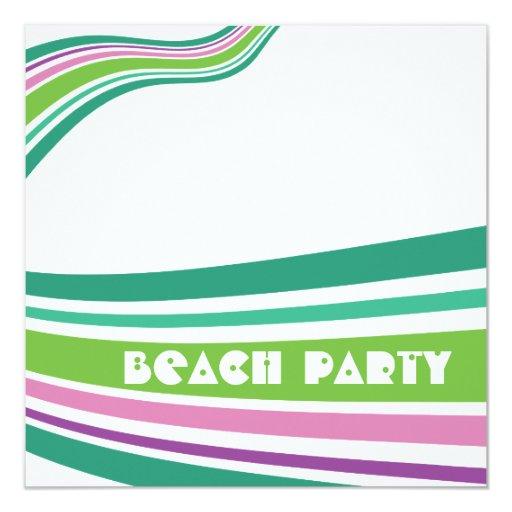 Fiesta rayado pelota de playa de la playa del comunicados personalizados