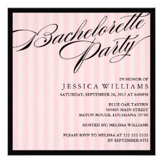 Fiesta rayado rosado de Bachelorette Comunicado Personal