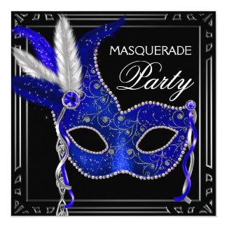 Fiesta real de la mascarada de la máscara de los invitación 13,3 cm x 13,3cm