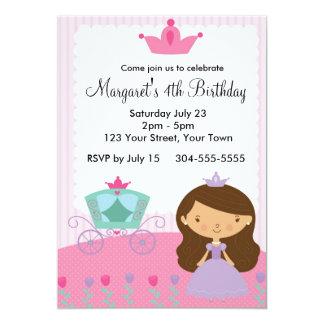 """Fiesta real de la princesa cumpleaños invitación 5"""" x 7"""""""