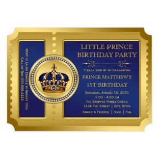 """Fiesta real del príncipe cumpleaños invitación 5"""" x 7"""""""