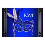 Fiesta real RSVP de la mascarada de la máscara de  Invitación