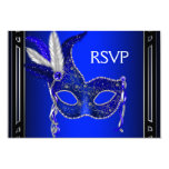Fiesta real RSVP de la mascarada de la máscara de Invitación 8,9 X 12,7 Cm