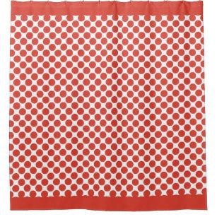 Fiesta Red Polka Dots Shower Curtain