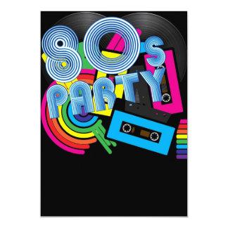 """Fiesta retro 80 invitación 5"""" x 7"""""""