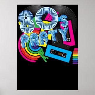 Fiesta retro 80 póster