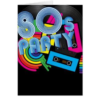 Fiesta retro 80 tarjeta de felicitación
