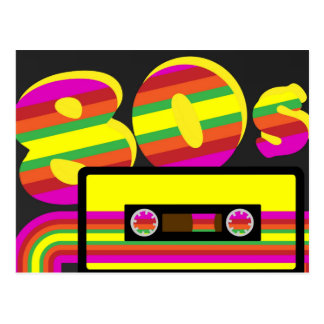 fiesta retro 80s postal