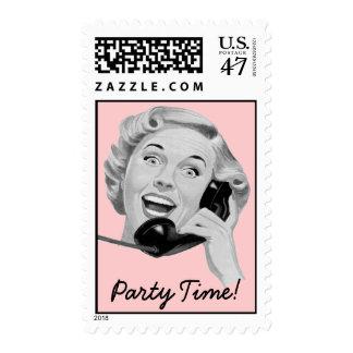 Fiesta retro de los años 50 sello postal