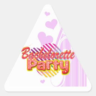 fiesta retro del bachelorette de la diversión pegatina triangular