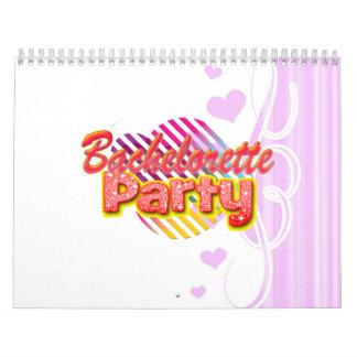 fiesta retro del bachelorette de la diversión salv calendario