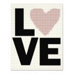 Fiesta retro del día de San Valentín del amor Invitación 10,8 X 13,9 Cm