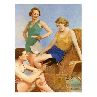 Fiesta retro del traje de baño de las mujeres 30s  tarjetas postales