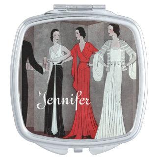Fiesta retro del vintage elegante del art déco espejos para el bolso