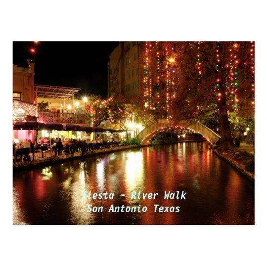 Fiesta ~ River Walk San Antonio Texas Postcard