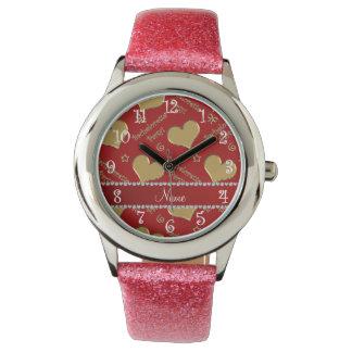 Fiesta rojo conocido del bachelorette de los relojes de mano