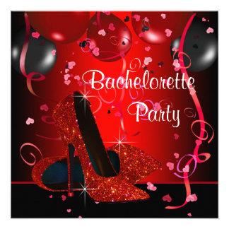 Fiesta rojo de Bachelorette de los zapatos rojos d