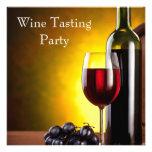 Fiesta rojo de la degustación de vinos de la botel anuncio