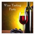 Fiesta rojo de la degustación de vinos de la anuncio