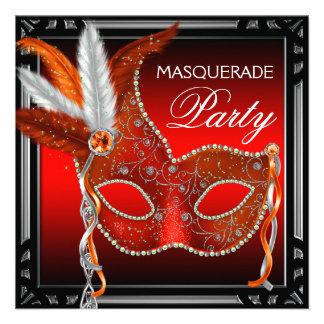 Fiesta rojo de la mascarada del negro rojo de la m comunicados