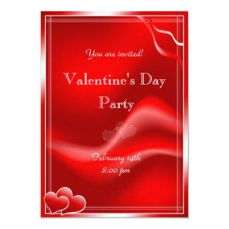 Fiesta rojo elegante del el día de San Valentín de Invitación 12,7 X 17,8 Cm