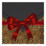 Fiesta rojo elegante del leopardo anuncios