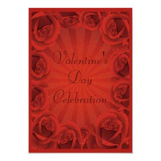 Fiesta romántico del el día de San Valentín de los Invitación 12,7 X 17,8 Cm