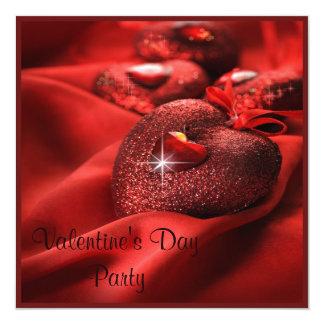 """Fiesta romántico del el día de San Valentín de los Invitación 5.25"""" X 5.25"""""""