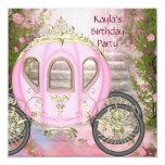 Fiesta rosada de la princesa cumpleaños de los comunicados personales