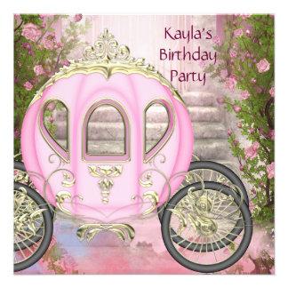 Fiesta rosada de la princesa cumpleaños de los ros comunicados personales