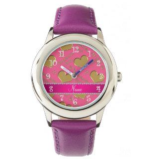 Fiesta rosado conocido del bachelorette de los reloj