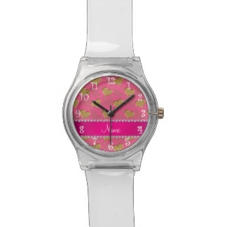 Fiesta rosado conocido del bachelorette de los relojes de mano