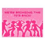 Fiesta rosado de los años 70 del tema del disco