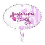 fiesta rosado del bachelorette de las cerezas de l decoraciones de tartas