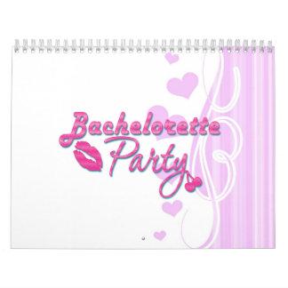 fiesta rosado del bachelorette de las cerezas de l calendarios de pared