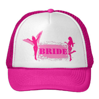 Fiesta rosado del bachelorette de las novias gorro de camionero