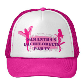 Fiesta rosado del bachelorette gorros