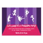 Fiesta rosado y púrpura Inviation del trampolín